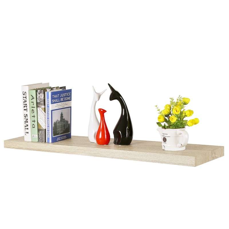 Homewell Wood Floating Shelves Decorative Wall Mounted Shelves Magnificent Light Oak Floating Shelves